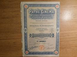 Pathé Cinéma, Action De Cent Francs   (Box1) - Cinéma & Théatre