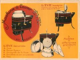 PUBLICITE MACHINE A LAVER EVE  ETS ERNEST RONOT SAINT DIZIER  DEPLIANT FORMAT CPA - Advertising