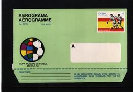 Cuba 1982 World Football Cup Spain Aerogramme - World Cup