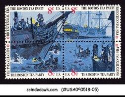 UNITED STATES USA - 1973 THE BOSTON TEA PARTY / SHIPS - SE-TENANT 4V MNH - United States