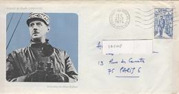 LAC 1974 - Cachet Colombey Les Deux Eglises - YT 1696 - De Gaulle (Général)