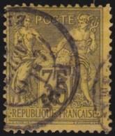 France  .      Yvert    .       93                 .     O    .     Oblitéré - 1876-1898 Sage (Type II)