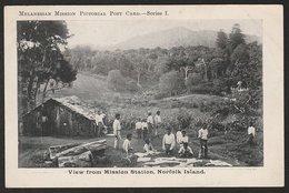 NEW ZEALAND 1d UNIVERSAL 1906 NORFOLK ISLAND POSTCARD - Postcards