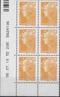 CD 4226 FRANCE 2010  COIN DATE 4226 Coin Daté 05 07 10 Feuille N° 5624106  MARIANE DE BEAUJARD MARIANNE ET L EUROPE - Coins Datés