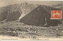 74 CHAMONIX MONT BLANC VUE GENERALE ET LE BREVENT Editeur JULLIEN FRERES JJ 99A - Chamonix-Mont-Blanc