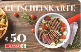 AUSTRIA - SPAR Gift Card 50 Euro, Unused - Gift Cards