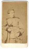 Fotografie J. Samhaber, Aschaffenburg, Soldat In Uniform Mit Epauletten Und Schützenschnur - War, Military