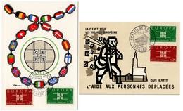 Carte Maximum 1963 - Europa 1963 - YT 1396 & 1397 - Strasbourg (Réf A1126) - Cartes-Maximum