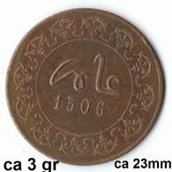 Maroc , Morocco ,  Marokko 2 Mauzonas 1306 Fes Münze Coin Rare - Marruecos