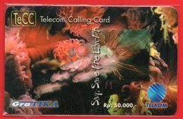 L13 - Indonesia Telkom TeCC Telkom Calling Card Say Save The Earth Mint - Indonesia