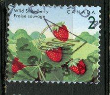 Canada 1992 2 Cent Strawberries Issue #1350VII Blue Thread Variety - Usados