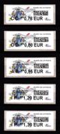 Atm-Lisa / Lot 0.78, 0.80, 0.95, 1.20, 1.30 €  Saint-Désiré, Musée De La Poste, 6.11.2018 - 2010-... Illustrated Franking Labels