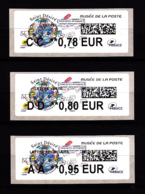 Atm-Lisa / Lot 0.78, 0.80, 0.95 €  Saint-Désiré, Musée De La Poste, 6.11.2018 - 2010-... Illustrated Franking Labels