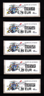 Atm-Lisa / Lot Lettre Verte  DD 0.78, DD 0.80, DD 0.95, DD 1.20, DD 1.30 €  Saint-Désiré, Musée De La Poste, 6.11.2018 - 2010-... Illustrated Franking Labels