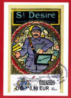 Atm-Lisa / CM, Carte Maximum Obl 1er Jour 06/11/2018 Saint-Désiré, Musée De La Poste - 2010-... Illustrated Franking Labels