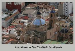 T89-30 ]  Concatedral De San Nicolás De Bari  España Cathedral Church Dom ,  Prestamped Card - Chiese E Cattedrali