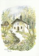 "Aquarelle De Terra Vecchia - "" Les Quatre Saisons"" - Carte 17 X 12 - Künstlerkarten"