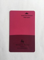 Marco Polo Hotel Of Wuhan China - Hotel Keycards