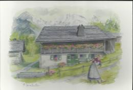 "Aquarelle De Terra Vecchia - "" La Vie En Montagne"" - Carte 17 X 12 - - Künstlerkarten"