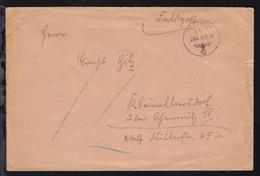 """""""Übungspost"""" Sudetenland K1 FELDPOST B 294 14.10.38 Auf Feldpostbrief  - Allemagne"""