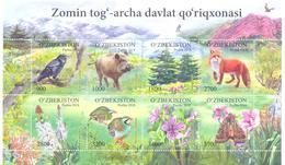 2018. Uzbekistan, Zomin Nature Reserve, Wildlife, Sheetlet,Nmint/** - Uzbekistan