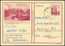 Austria 1968 Katrin-Seilbahn Cableway Aerial Cable Car Téléphérique Stationery Card Bad Ischl Bildpostkarte Österreich - Transports