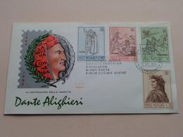 DANTE ALIGHIERI - CITA DEL VATICANO 15 Mag 1965  ( Zie/voir Photo SVP ) FDC Siligato ! - FDC