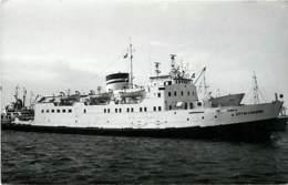 80 CLICHE BATEAU PREFIXE M.V - LE CITY OF LINASSOL  - DE 1954 - CATEGORIE 1991TONNES - FORMAT CPA N°B0080 - Bateaux
