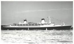 1134 CLICHE BATEAU PAQUEBOT - LE NORWAY DE 19361 - CATEGORIE 70202 TONNES - FORMAT CPA N° B1134 - Bateaux