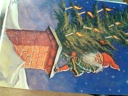 GNOMO NATALE ILLUATRATA CURT NYSTROM  STAMP SELO TIMBRE SCHWEDEN SWEDEN SUEDE CARD 1855 Johnson Nobelpreis 1974 GX5456 - Natale