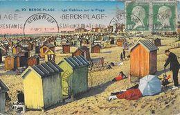 Berck-Plage - Les Cabines Sur La Plage - Carte CAP Colorisée N° 70 - Berck