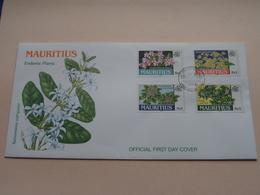 ENDEMIC PLANTS Official FDC 10 March 1999 Mauritius ( Zie/voir Photo SVP ) Empty Envelop ! - Maurice (1968-...)