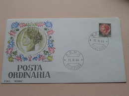 "POSTA ORINARIA Roma Filatelico 15-III-66 - FDC "" Roma "" ( Zie/voir Photo SVP ) ! - 1946-.. République"
