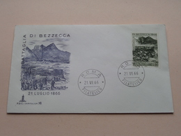 Battaglia Di BEZZECCA 21 Luglio 1866 -Roma 21 VII 66 Filatelico FDC Capitolium 98 ( Zie/voir Foto's ) + 2 Xtra Timbres ! - 1946-.. République