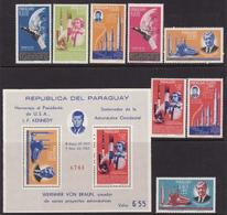 Paraguay, 1964, Space Exploration, 8 Stamps + Block Perforated - Raumfahrt