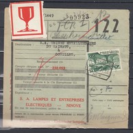 Vrachtbrief Met Stempel Ninove - Chemins De Fer
