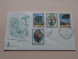 FLORA D'ITALIA - Roma 30-4-66 Filatelico FDC Capitolium 95 ( Zie/voir Foto's ) + Xtra 8 Timbres ! - F.D.C.