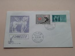 ESPRESSO - Roma 15-III-1966 Filatelico FDC Capitolium 88 ( Zie/voir Foto's ) + Xtra 2 Timbres ! - 1946-.. République