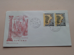 Conferenza Nazionale Sul TURISMO - Roma 28-V-1966 Filatelico FDC Capitolium 96 ( Zie/voir Foto's ) + Xtra 2 Timbres ! - F.D.C.