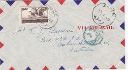 Lebanon-Liban Commercial Cover Zahle 1949,franked High Valuen 100 PL Heron,fine Condit- Red. Price- SKRILL ONLY - Lebanon