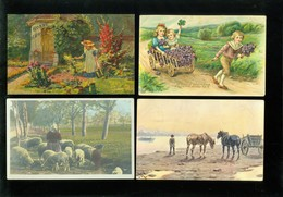 Beau Lot De 60 Cartes Postales De Fantaisie   Mooi Lot 60 Postkaarten Van Fantasie -  60 Scans - 5 - 99 Cartes