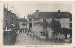 Carte Postale Ancienne De Queaux La Rue De La Cure - France