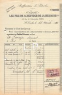 7-1582    FACTURE  1921 RAFFINERIES DE PETROLES LES FILS DE A DEUTSCH DE LA MEURTHE A SAINT LOUBES - M. SARRAZIN A PONS - France