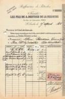 7-1583    FACTURE  1921 RAFFINERIES DE PETROLES LES FILS DE A DEUTSCH DE LA MEURTHE A SAINT LOUBES - M. SARRAZIN A PONS - France