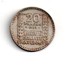 20 Francs Turin De 1933 -voir état - - France