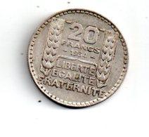 20 Francs Turin De 1934 -voir état - - France