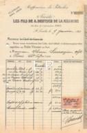 7-1585    FACTURE  1921 RAFFINERIES DE PETROLES LES FILS DE A DEUTSCH DE LA MEURTHE A SAINT LOUBES - M. SARRAZIN A PONS - France