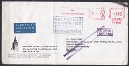 "1978 ""RETOUR / INCONNU"" Violet Stempel En Japans Stempel Op Retourbrief Uit Japan - Poststempels/ Marcofilie"