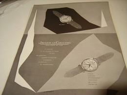 ANCIENNE PUBLICITE MONTRE JAEGER LECOULTRE 1954 - Jewels & Clocks