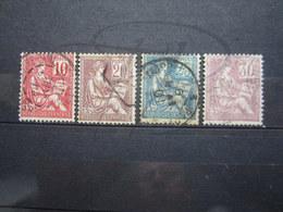 VEND TIMBRES DE FRANCE N° 112 - 115 !!! - 1900-02 Mouchon